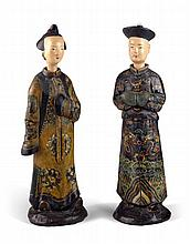 A Pair of Chinese Nodding Head Figures