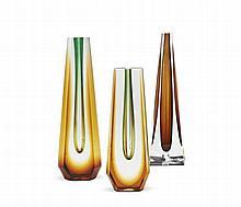 A Set of Three Vases