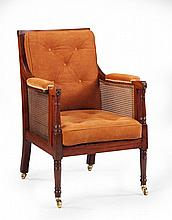 A Pair of Regency Library Armchairs