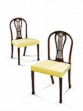 A Set of Four Mahogany Lyre Back Chairs