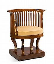 An Empire Mahogany Desk Chair