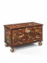 A William & Mary Japanned Blanket Chest