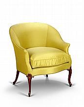 A George III Mahogany Bergere Chair
