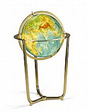 An Illuminated Brass Globe