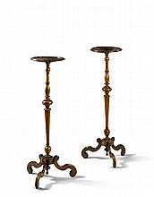 A Pair of William and Mary Torcheres