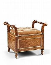 An Early 19th Century Satinwood Commode Stool