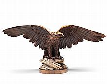 A 19th Century Carved Wood Eagle