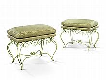 A Pair of 1940's Cast Iron Stools