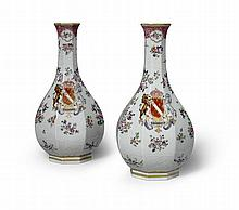 A Pair of 19th Century French Samson Porcelain Vases