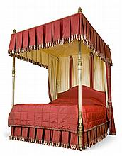 A George IV Brass Four Poster Bed