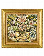 A Rare Seventeenth Century Italian Embroidered Picture