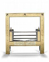 An Irish Brass and Steel Register Grate