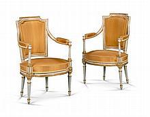 A Pair of Louis XVI Fauteuils