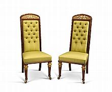 A Pair of William IV Parcel Gilt Chairs