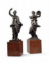 A Pair of Bronze Dancing Figures