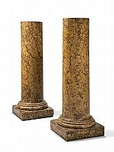 A Pair of Early 19th Century Scagliola Columns