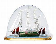 A Glass Model of A Ship in A Dome