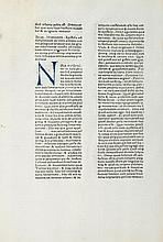 A Leaf from the Letters of St.Jerome First Printed by Sixtus Reissinger