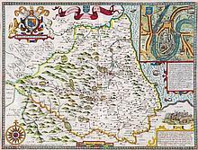Northumberland.- Speed (John) - The Bishoprick and Citie of Durham,