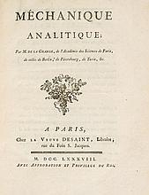 Lagrange (Joseph-Louis) - Mechanique Analitique,