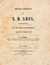 Abel (Niels Henrik) - Oeuvres Complètes...,