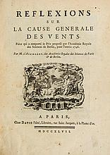 Alembert (Jean le Rond d') - Reflexions sur la cause generale des vents,