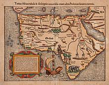 Munster (Sebastian) - Totius Africae Tabula & Descriptio Universalis, etiam ultra Ptolemaei Limites Extensa,