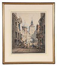 William Henry Harriott (1790-1839) - The Clock Tower, Ratisbon, Germany