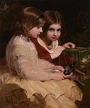 James Sant (1820-1916) - The pet bird