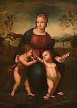 Leopoldo Galli (fl. 1860s) - The Madonna del Cardellino