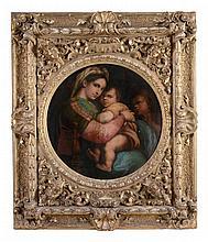 After Raphael - The Madonna della Sedia