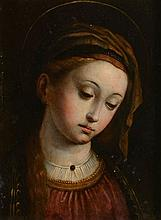 Italian School (17th Century) - Potrait of a female saint
