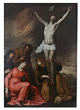 Circle of Luciano Borzone (1590-1645) - Crucifixion of Christ