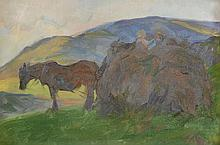 Frank Bramley (1857-1915) - Carting bracken, Grasmere