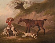 John Nost Sartorius (1759-1828) - The whipper in bringing up the fox hounds; The death