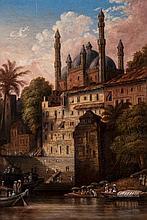 August Theodor Schoefft (1809-1888) - Lahore scene