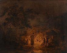 Circle of Thomas Gainsborough (1727-1788) - Gypsy encampment