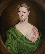 R. Dellon (18th Century) - Portrait of lady in green, bust length