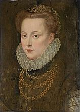 Circle of François Clouet (1522-1572) - Portrait of a lady, traditionally identified as Mary Queen of Scots (1542-1587)