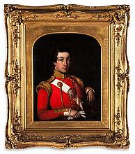 Attributed to Jivan Ram, Raja (fl. 1825-1840) - Portrait of Major General William Henry Knight, of the 48th Regiment of foot, half-length