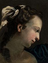 Follower of Ubaldo Gandolfi (1728–1781) - Head study of a young woman, looking to her left
