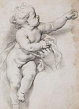 Circle of Carlo Maratta (1625-1713) - Study of Christ Child, with left arm outstretched grasping an [?]apple, supported by hand of another