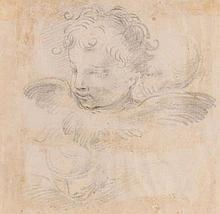 Attributed to Ventura Salimbeni (1568-1613) - Studies of the heads of putti and cherubim