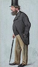 Carlo Pellegrini 'Ape' (Italian, 1839-1889) - Portrait of Prince Edward of Saxe-Weimar