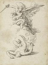 Francesco Solimena (1657-1747) - Study for Fall of the Rebel Angels