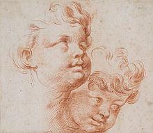Italian School (18th Century) - Head studies of two young boys