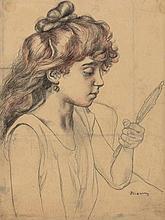 Charles Maurin (1856-1914) - Portrait de Mademoiselle Debray