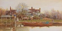 Tom James Lloyd (1849-1910) - Yew Tree House, Yapton, Sussex, (or