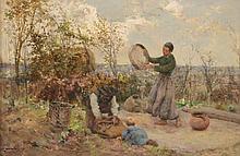 Robert McGregor (1848-1922) - Sifting grain