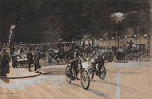 Charles Jouas (1866-1942) - Le Grand Boulevard de Nuit